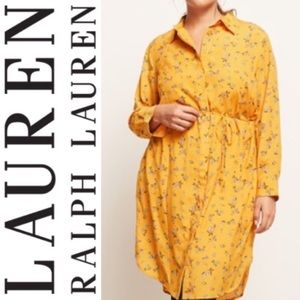 NWT Lauren Ralph Lauren Shirt floral Dress